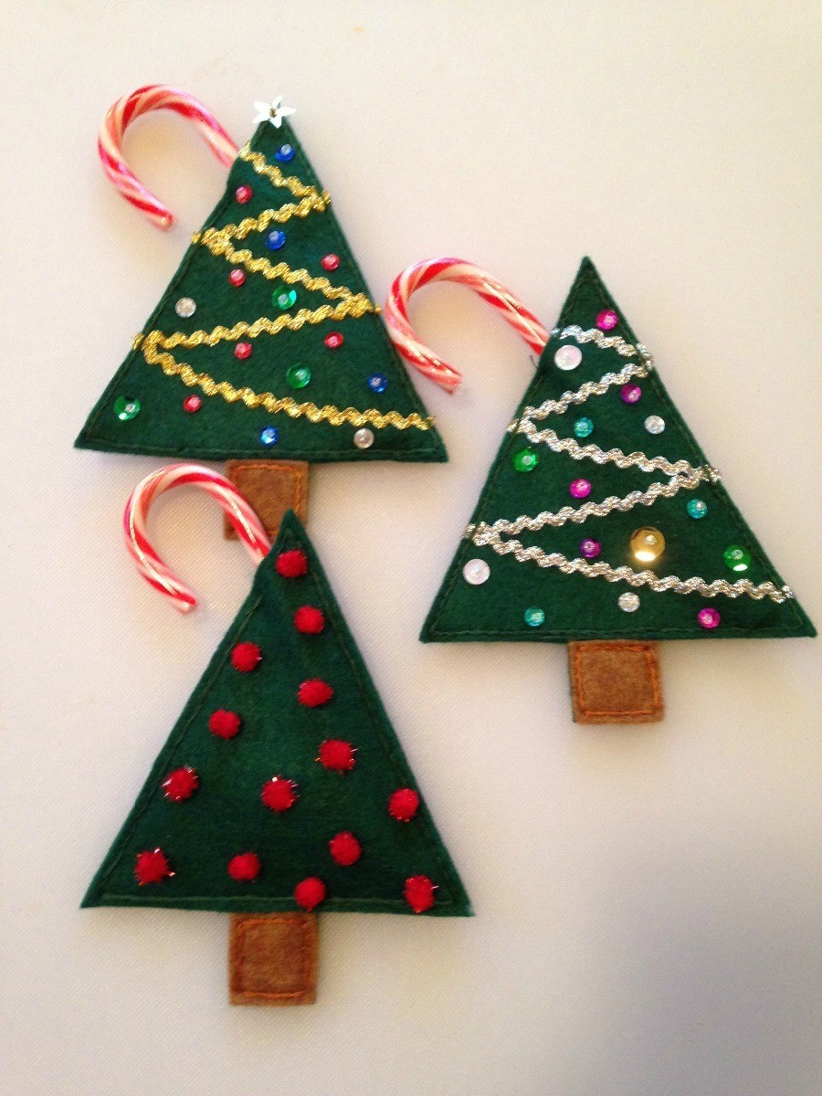 Making Felt Candy Cane Holders My Frugal Christmas