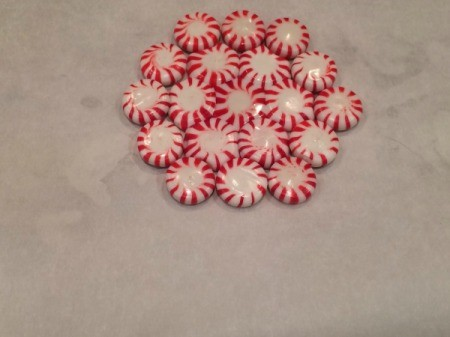 Peppermint Candy Bowls - continuing candies