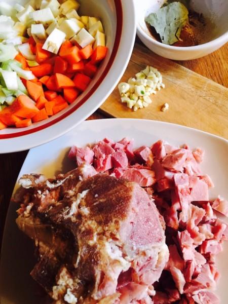 Creamy Ham Carrot Parsnip Soup