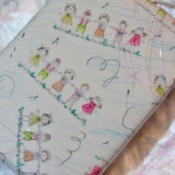 closeup of the gift wrap