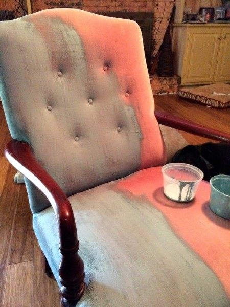 staining chair upholstery