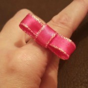 Making a Paper Clip Ribbon Ring