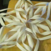 Making 3D Paper Snowflakes