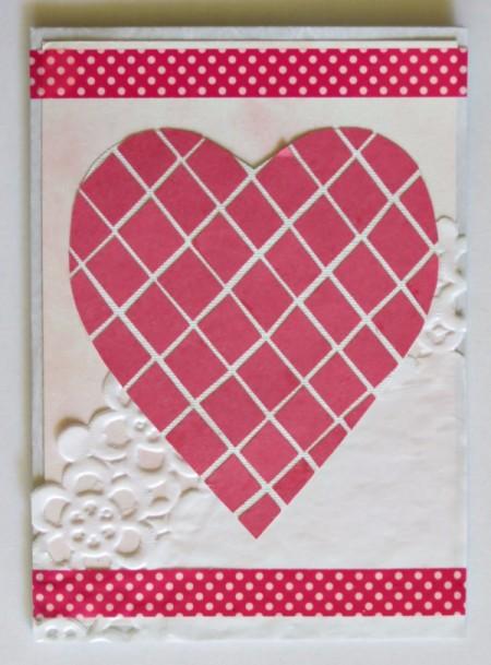 Mock Mosaic Valentine's Day Card