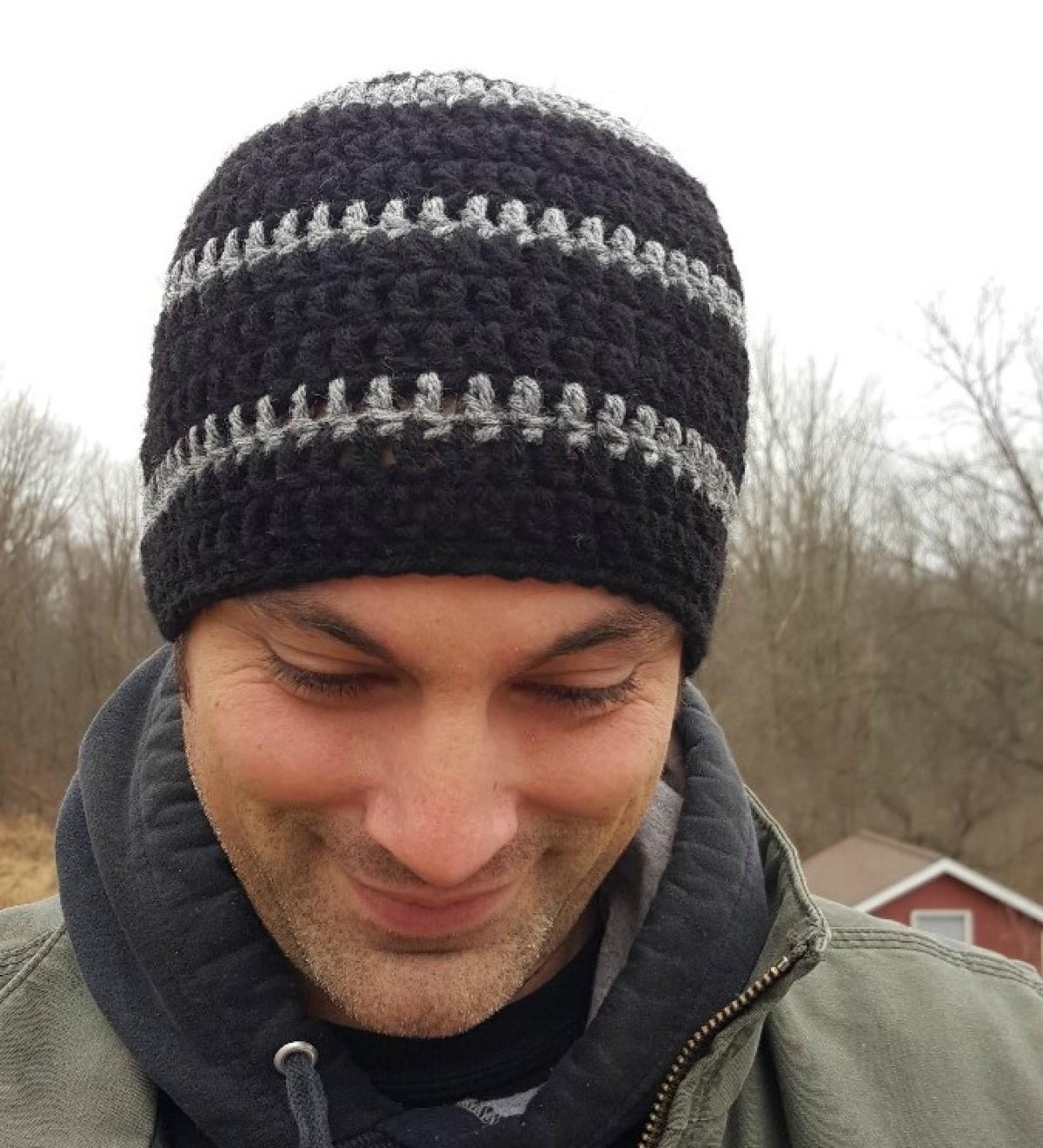 73a4ebebf75 Men s Crocheted Skull-Cap