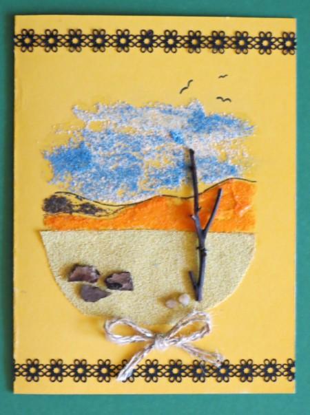 Desert Inspired Birthday Card - finished card