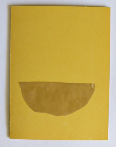 Desert Inspired Birthday Card - piece of packing tape sticky side up glued to front of card