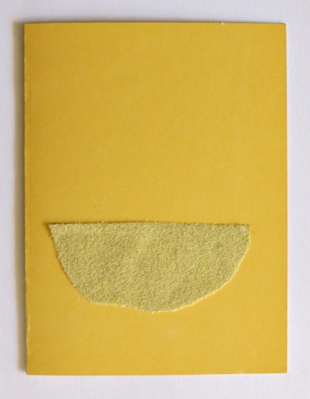 Desert Inspired Birthday Card - tape dusted with sand