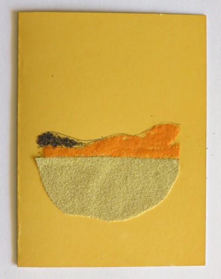 Desert Inspired Birthday Card - smaller dune coated with black sand