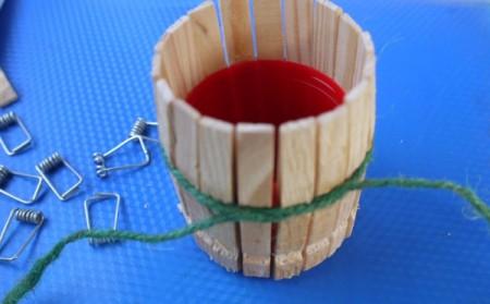 Clothespin Barrel Shaped Pot
