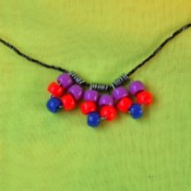 Beaded Necklace Using Clothespin Springs