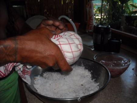 Making Fresh Coconut Milk