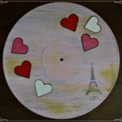 Love You Madly Vinyl Record Underplate - finished project