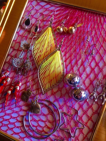 Produce Bag Earring Display