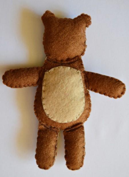 """""""I Heart You"""" Felt Teddy Bear"""