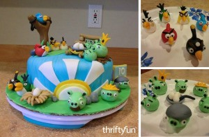 Photo of making a wonderful angry birds cake using fondant and you imagination!