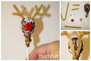 Making a Tootsie Pop Reindeer