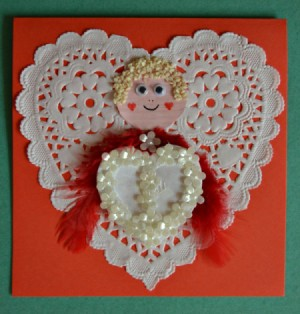 finished Cupid card