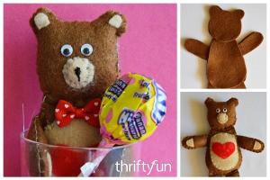 Making a Felt Teddy Bear