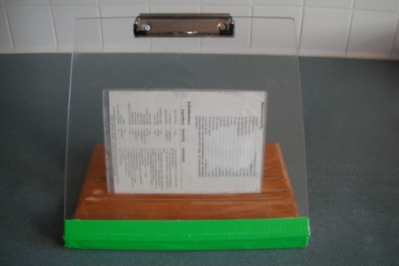 Homemade Recipe Book Holder