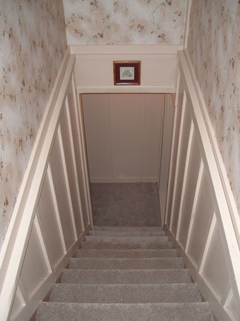 Stairway remodeled