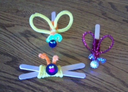 Three Easy Crafts For Boys - chenille bugs