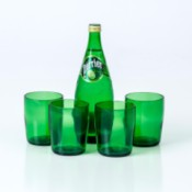 bottle and 4 glasses