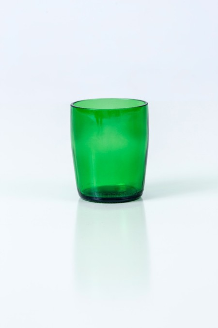 Recycled Perrier Drinking Glasses