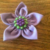 Folded Fabric Flower