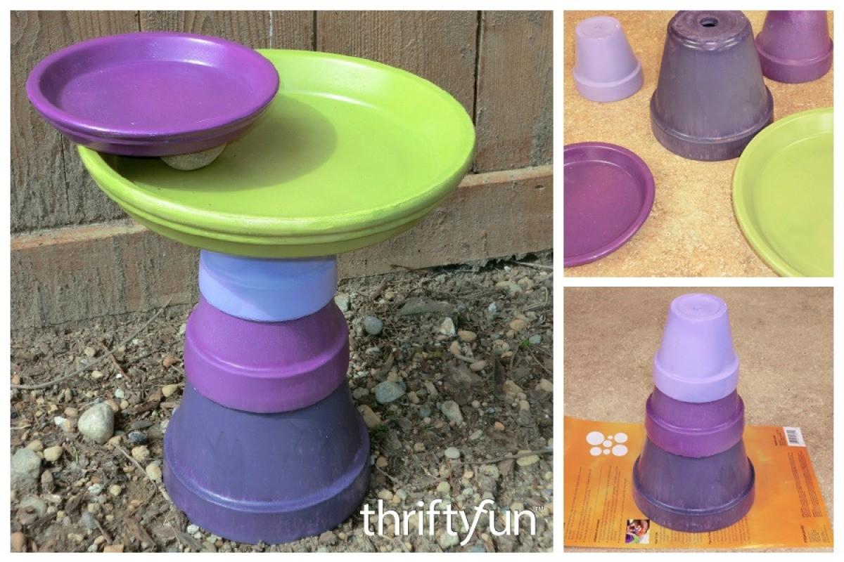 & Flower Pot Bird Bath   ThriftyFun