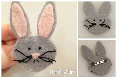 Making a Felt Easter Bunny Pin