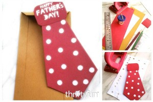 Making a Necktie Father's Day Card