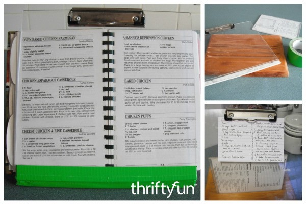diy cookbook holder thriftyfun