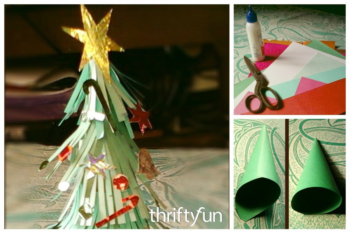 Christmas Tree Using Recycled Materials.Making Recycled Paper Mini Trees Thriftyfun