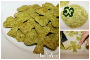 Making Shamrock Tortilla Chips