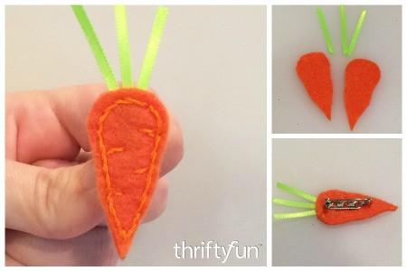 Making a Felt Carrot Pin