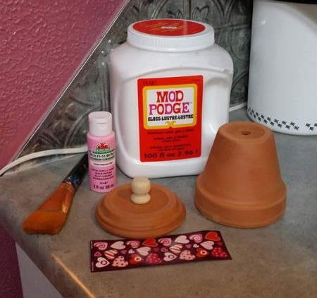 Clay Pot Candy/Gumball Machine