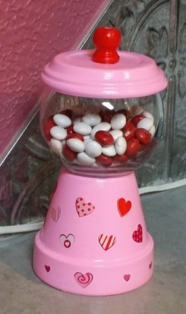 filled candy dish