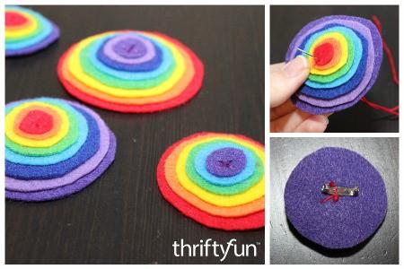 Making a Felt Rainbow Pin