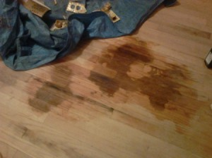 Refinishing Carpet Covered Stained Hardwood Flooring