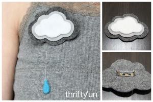 Making a Felt Cloud Pin