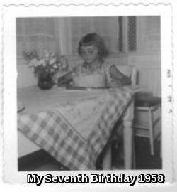 Seventh Birthday Memories (July 1958)