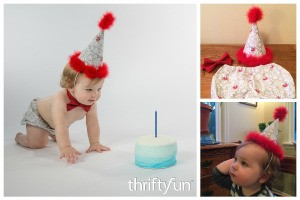 Making a 1st Birthday Hat and Diaper Cover