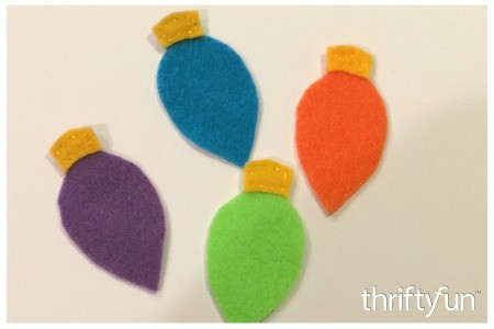 Making Felt Christmas Light Ornaments
