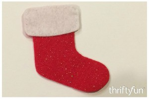 Making a Felt Christmas Stocking Ornament