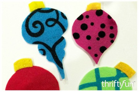 Making Felt Antique Christmas Baubles
