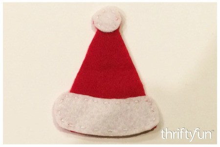 Making a Felt Santa Hat Ornament