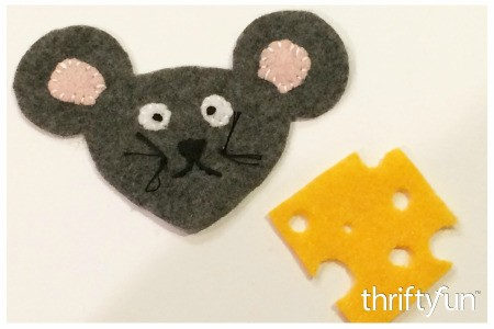 Making a Felt Mouse and Cheese Ornament