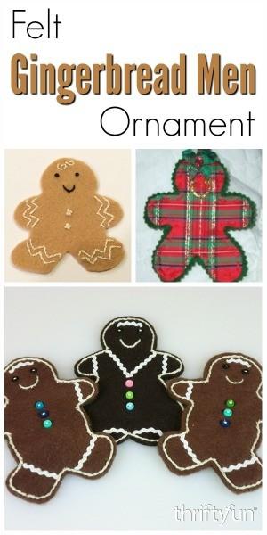Making Felt Gingerbread Man Ornaments Thriftyfun