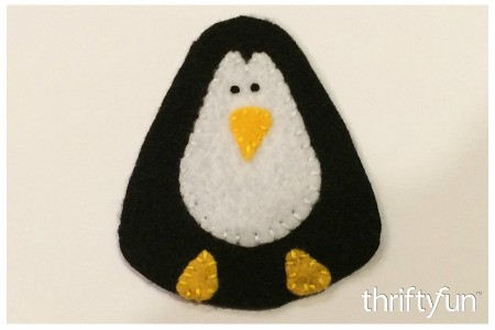 Making a Felt Penguin Ornament